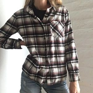Black And burgundy flannel